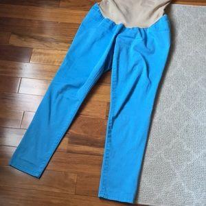 Matnernity turquoise blue skinny jeans !!